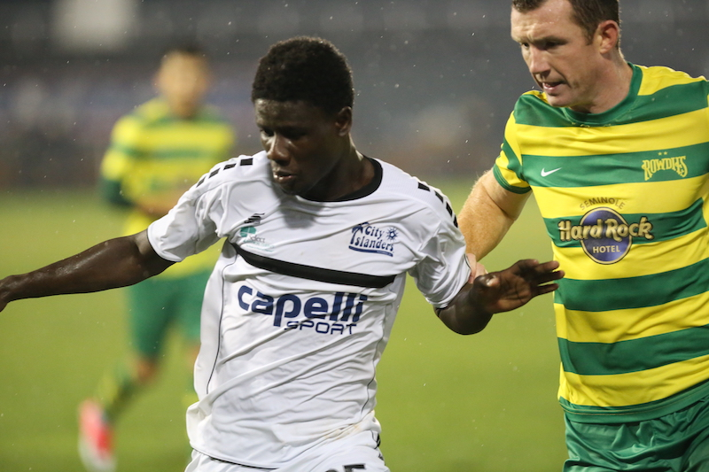 Ropapa Mensah continues scoring form with season's seventh goal for USL side City Islanders