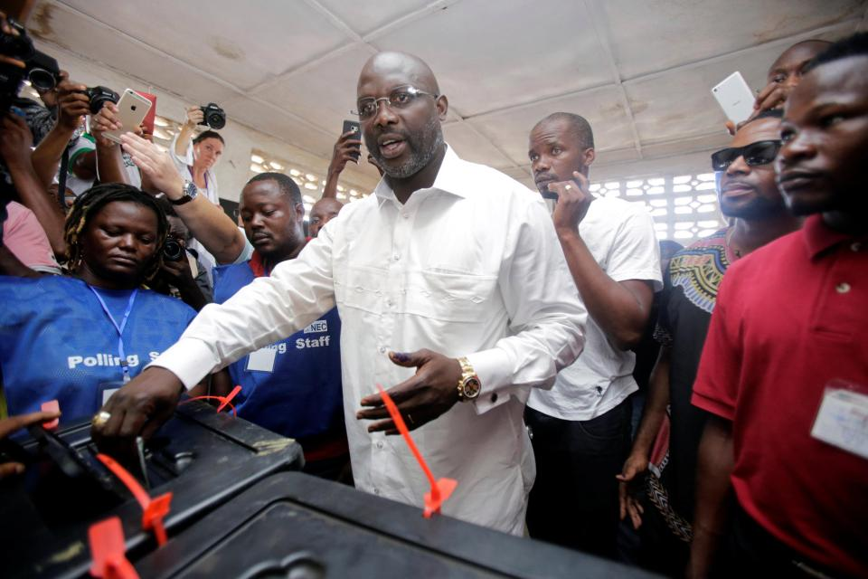 Image result for Liberia Presidential Election Football Star Weah Leads