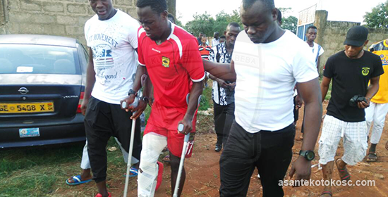 Asante Kotoko striker Abass Mohammed ruled out for rest of season with knee injury