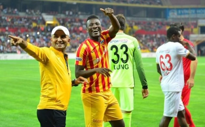 Focused Asamoah Gyan not worried by incessant criticisms from Kayserispor fans