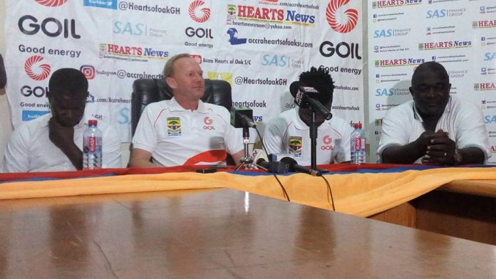 Hearts of Oak coach Frank Nuttal heaps praises on players after Kotoko win