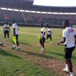 PHOTOS: Black Stars final training session ahead of Uganda clash