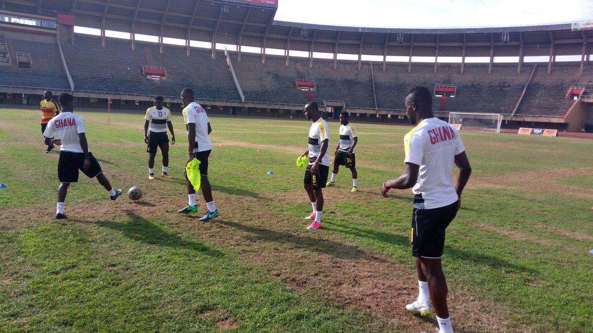 PHOTOS: Black Stars final training session ahead of Uganda clash