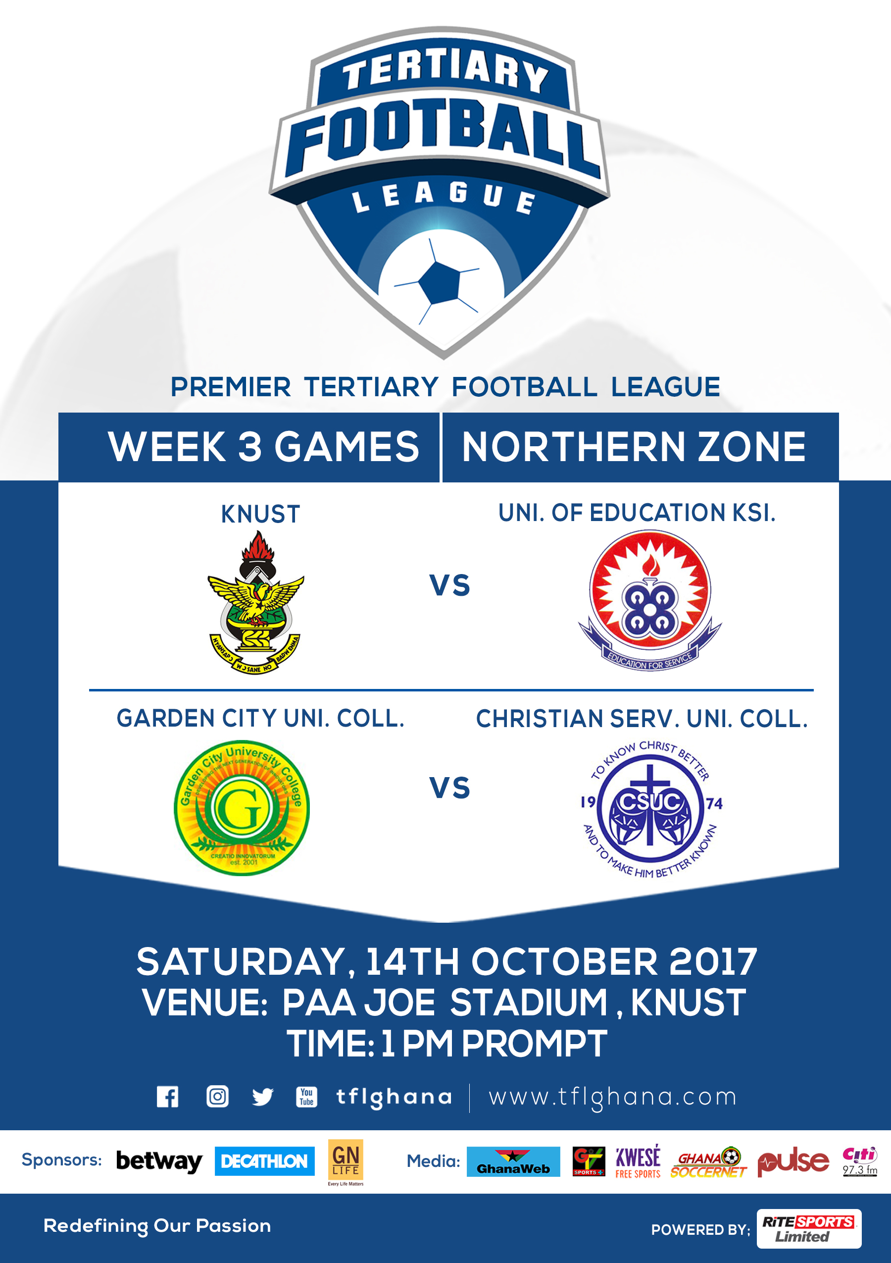 University League: KNUST battle UEK, Garden City face-off with Christian Services