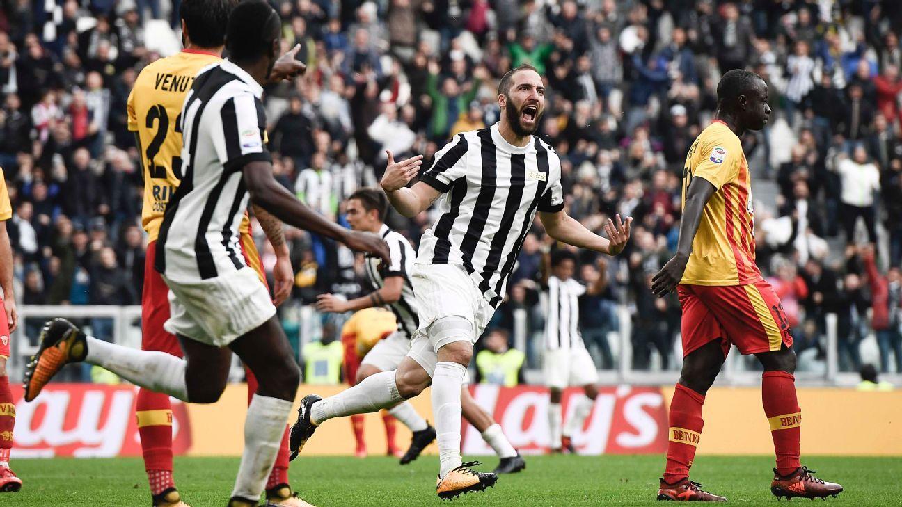 Gonzalo Higuain strikes again to help Juventus eke out Benevento