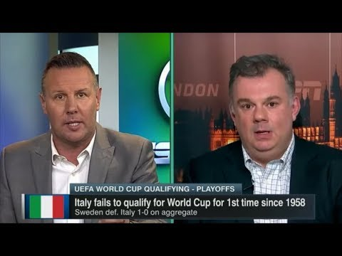 Pundits react to Italy failing to reach World Cup - Italy 0 Sweden 0(0-1)