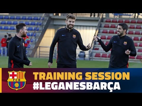 Last workout before the trip to Leganés