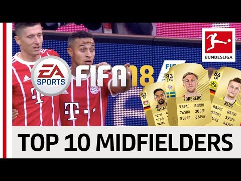 EA SPORTS FIFA 18 - Top 10 Midfielders: Thiago, Reus & More