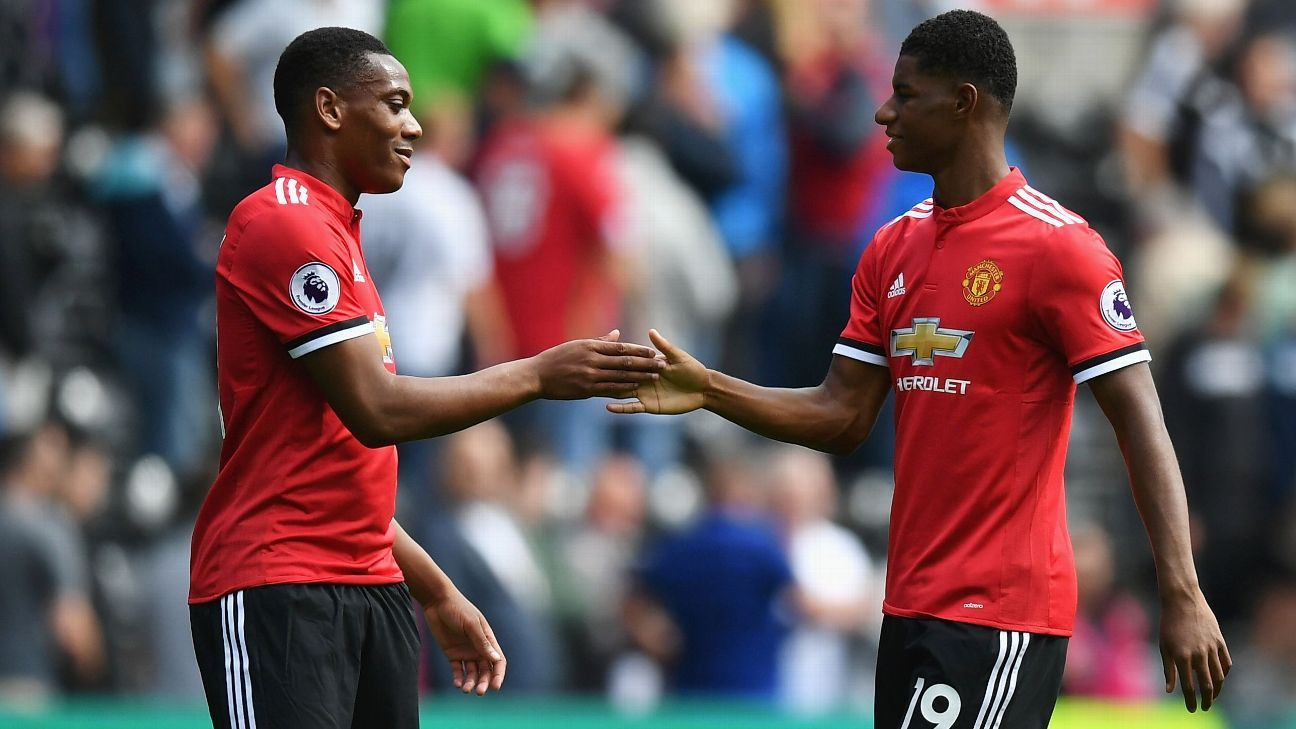 Jose Mourinho: 'Difficult' for Martial and Rashford to start together