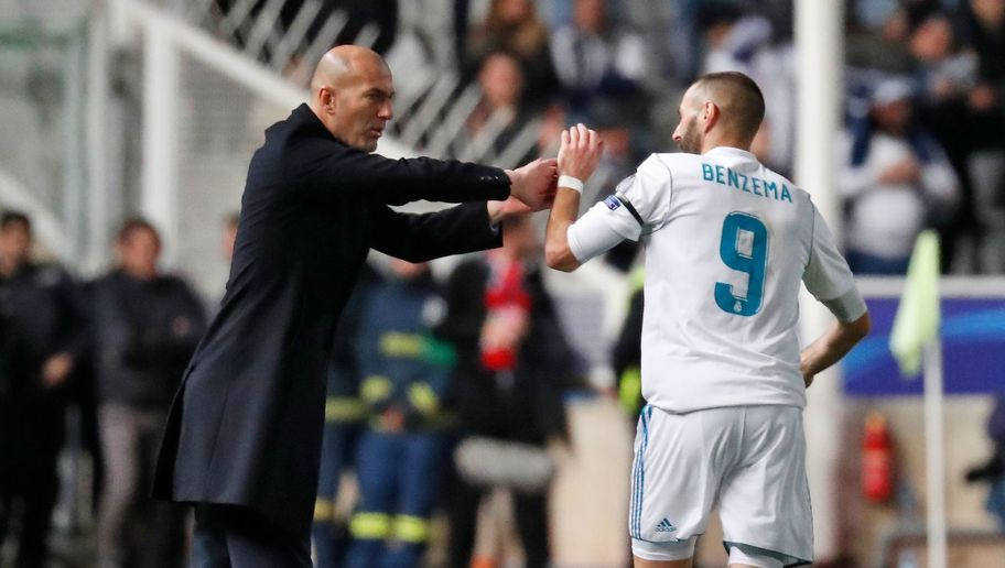 Real Boss Zinedine Zidane Praises Struggling Attackers After Emphatic 6-0 Win at Apoel Nicosia