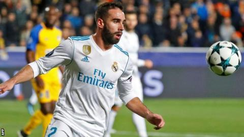 Real Madrid's Dani Carvajal faces 'deliberate yellow' ban