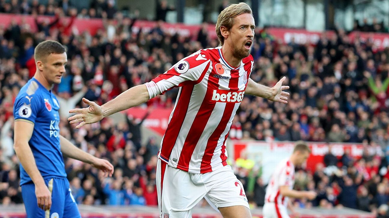 Stoke boss Mark Hughes to offer 37-year-old Peter Crouch new contract