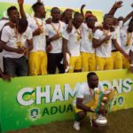PHOTOS: Aduana Stars lift Ghana Premier League trophy after beating Berekum Chelsea in coronation match