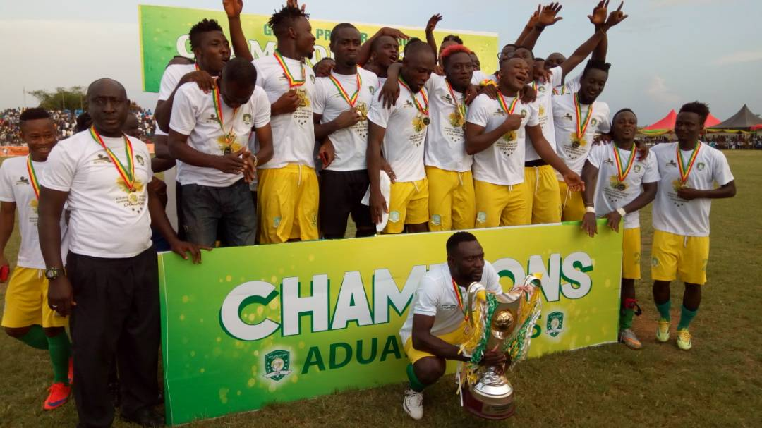 PHOTOS: Aduana Stars lift Ghana Premier League trophy ...