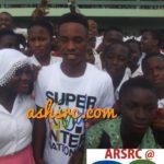 PHOTOS: Ghana U17 captain Eric Ayiah visits alma Alma mater T.I Amass