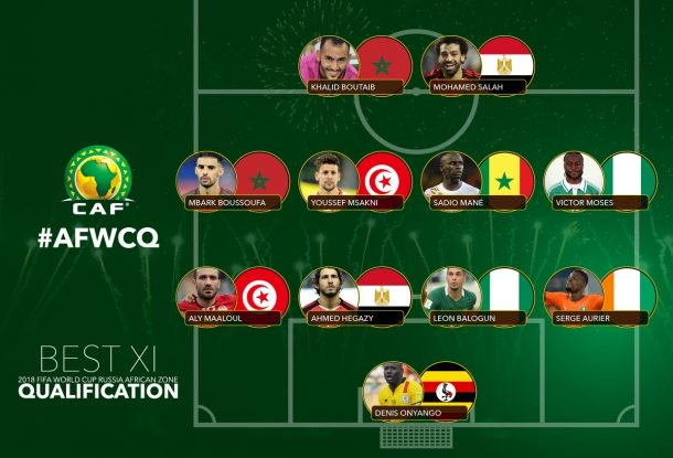 77b973ef2 No Ghanaian player in CAF 2018 World Cup qualifiers Best XI ...