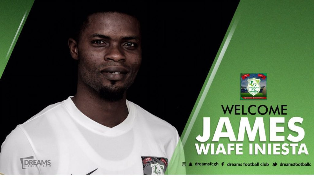 Dreams FC complete capture of highly-talented midfielder James Wiafe Iniesta
