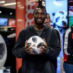 Ex-Inter Allies striker Sheriff Deo Mohammed launches new Adidas World Cup ball in Lithuania