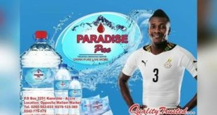 VIDEO: Asamoah Gyan stars in TV commercial for his treated water company Paradise Pac