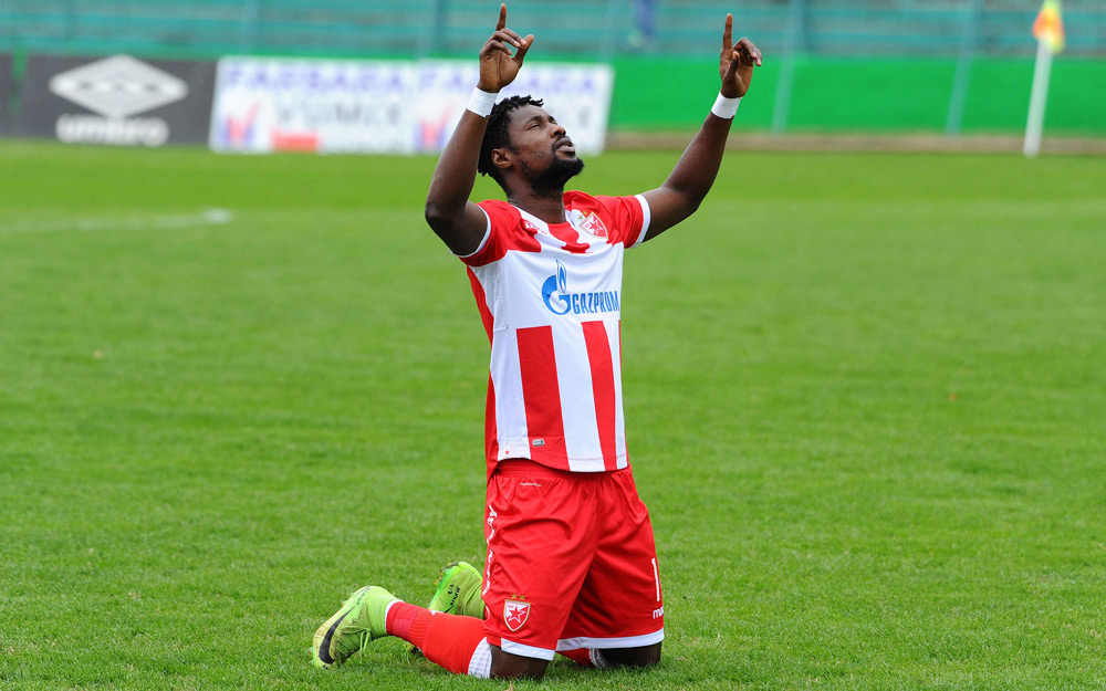 VIDEO: Watch Richmond Boakye's double brace for Red Star Belgrade in league triumph