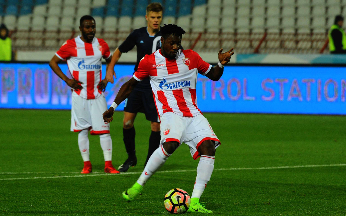 Ghana striker Richmond Boakye dedicates double to late Red Star Belgrade great Rajko Mitić