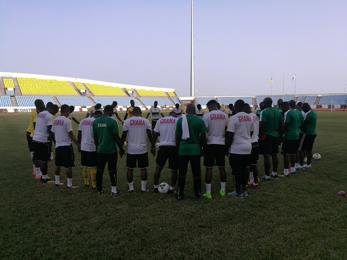 Black Stars start training in Cape Coast with 21 players ahead of Egypt clash; captain Asamoah Gyan returns
