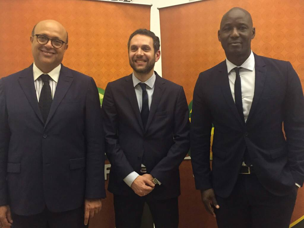 Sports Writers pats Anthony Baffoe and Ibrahim Sannie-Daara for CAF posts