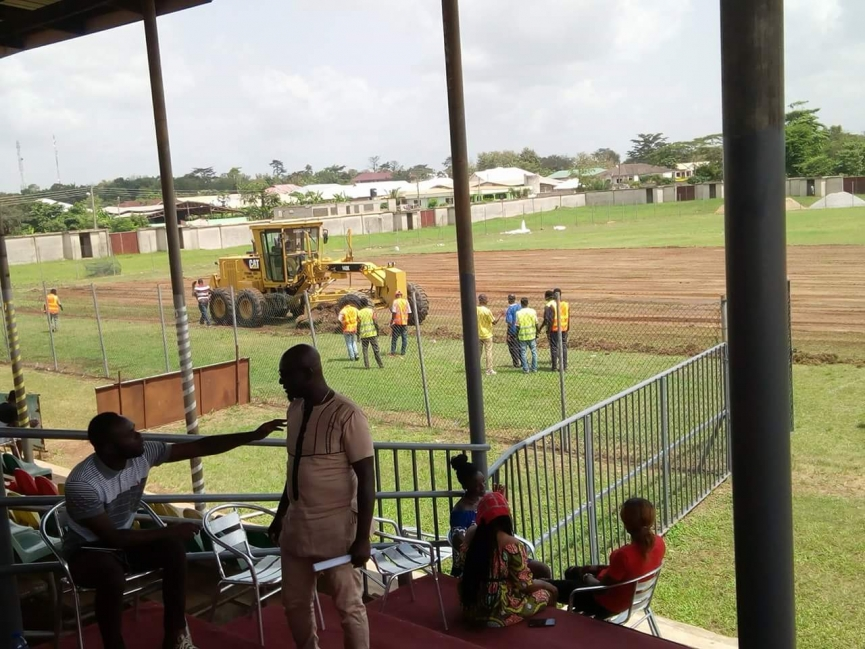 Massive face-lift of Aduana Stars' Nana Agyemang Badu II Park is underway
