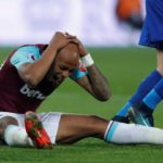 Andre Ayew's stoppage time overhead kick misses narrowly as Leicester hold West Ham