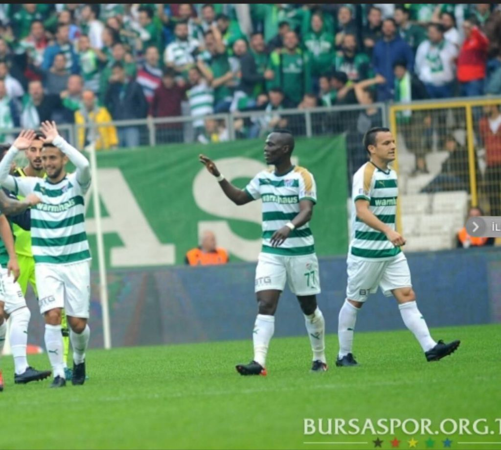 Agyemang Badu makes injury return in Bursaspor massive 4-1 win over Karabukspor