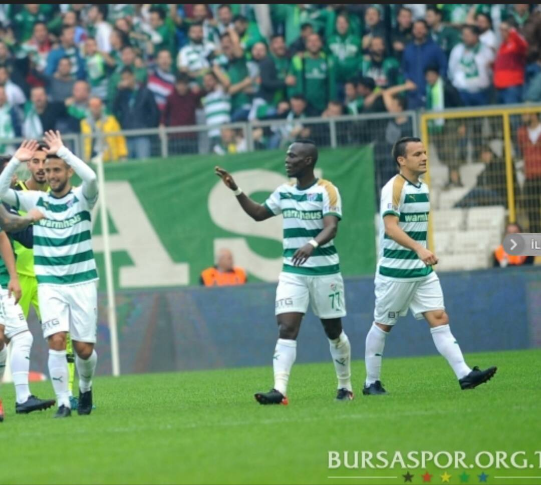 Bursaspor midfielder Emmanuel Agyemang Badu makes injury return after TWO months injury layoff