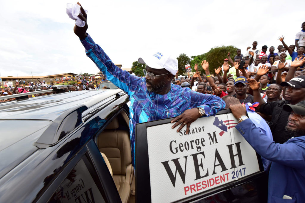 Michael Essien wishes legend George Weah luck ahead of Liberia Presidential election re-run