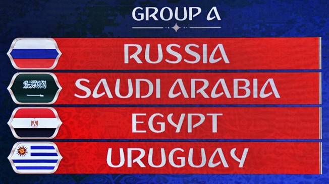 2018 World Cup draw: Hosts face Arabic test as Russia plays Egypt and Saudi Arabia in Group A