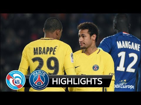 Strasbourg vs PSG 2-1 - All Goals & Extended Highlights - Ligue 1 - 02/12/2017 HD