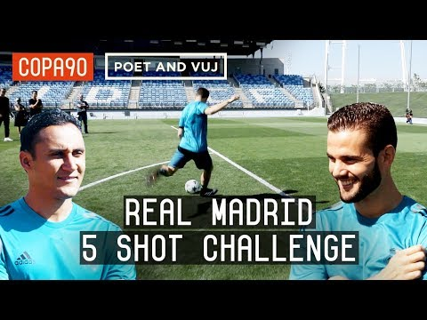 Real Madrid 5 Shot Challenge: Navas vs Nacho