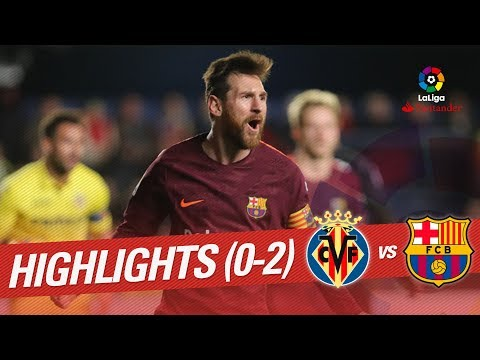 Resumen de Villarreal CF vs FC Barcelona (0-2)