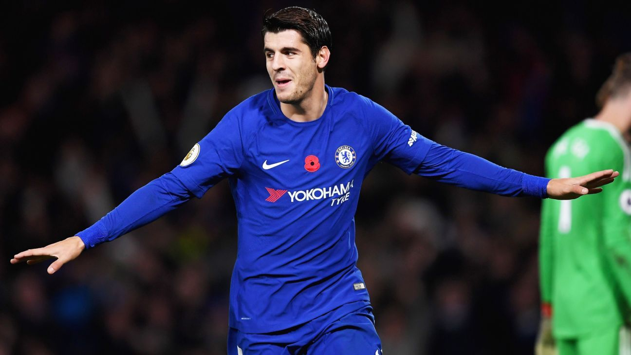 Alvaro Morata ruled out for Chelsea's clash with Huddersfield