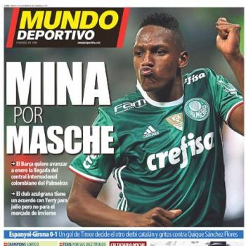 BARCELONA FC ready to bring Yerry MINA in