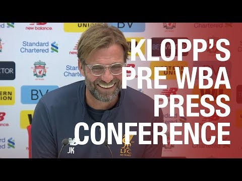 Jürgen Klopp's West Brom press conference from Melwood | E
