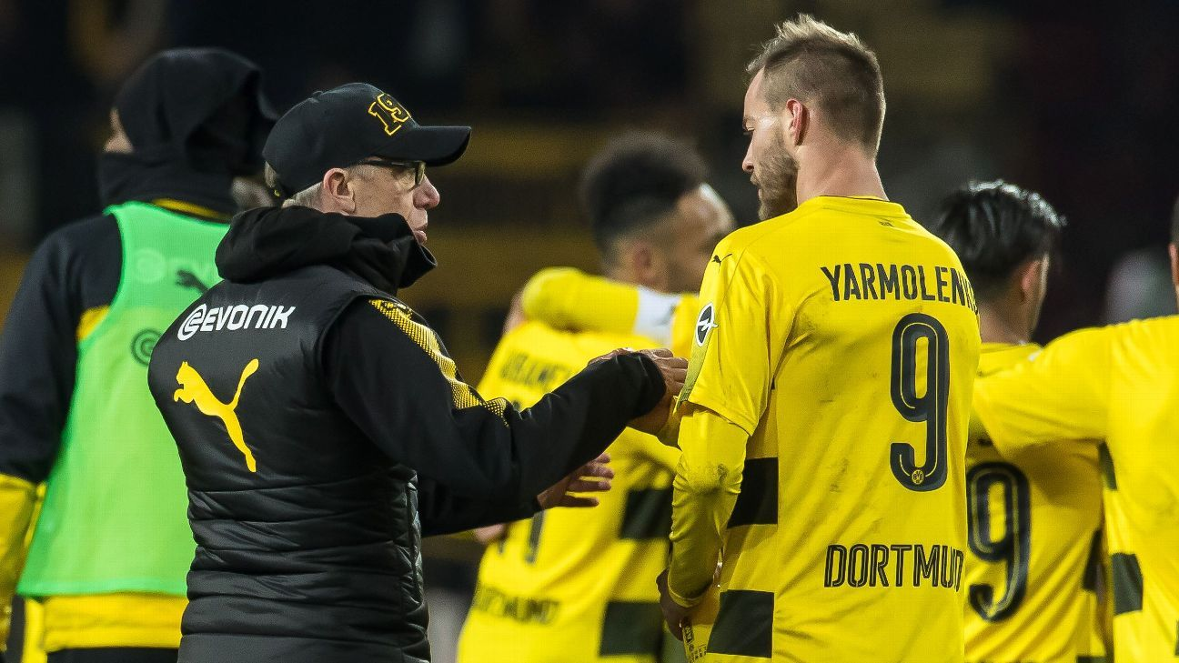 Stoger credits Dortmund predecessor Bosz after defeat of Mainz