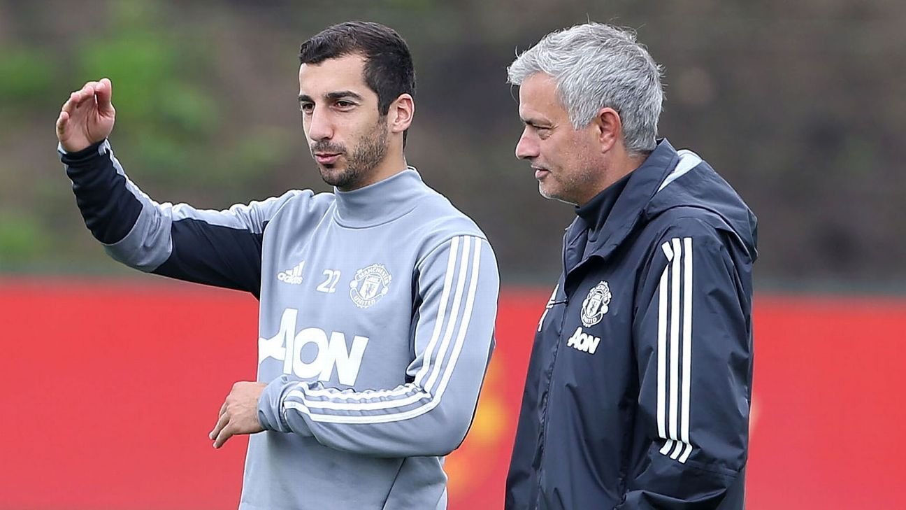 Mkhitaryan's Man United future in doubt after Mourinho row - sources