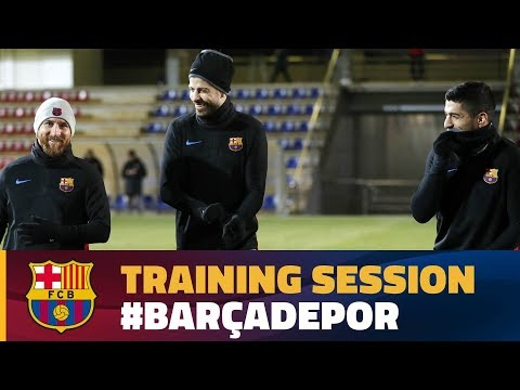 Last training session before the  match against Deportivo