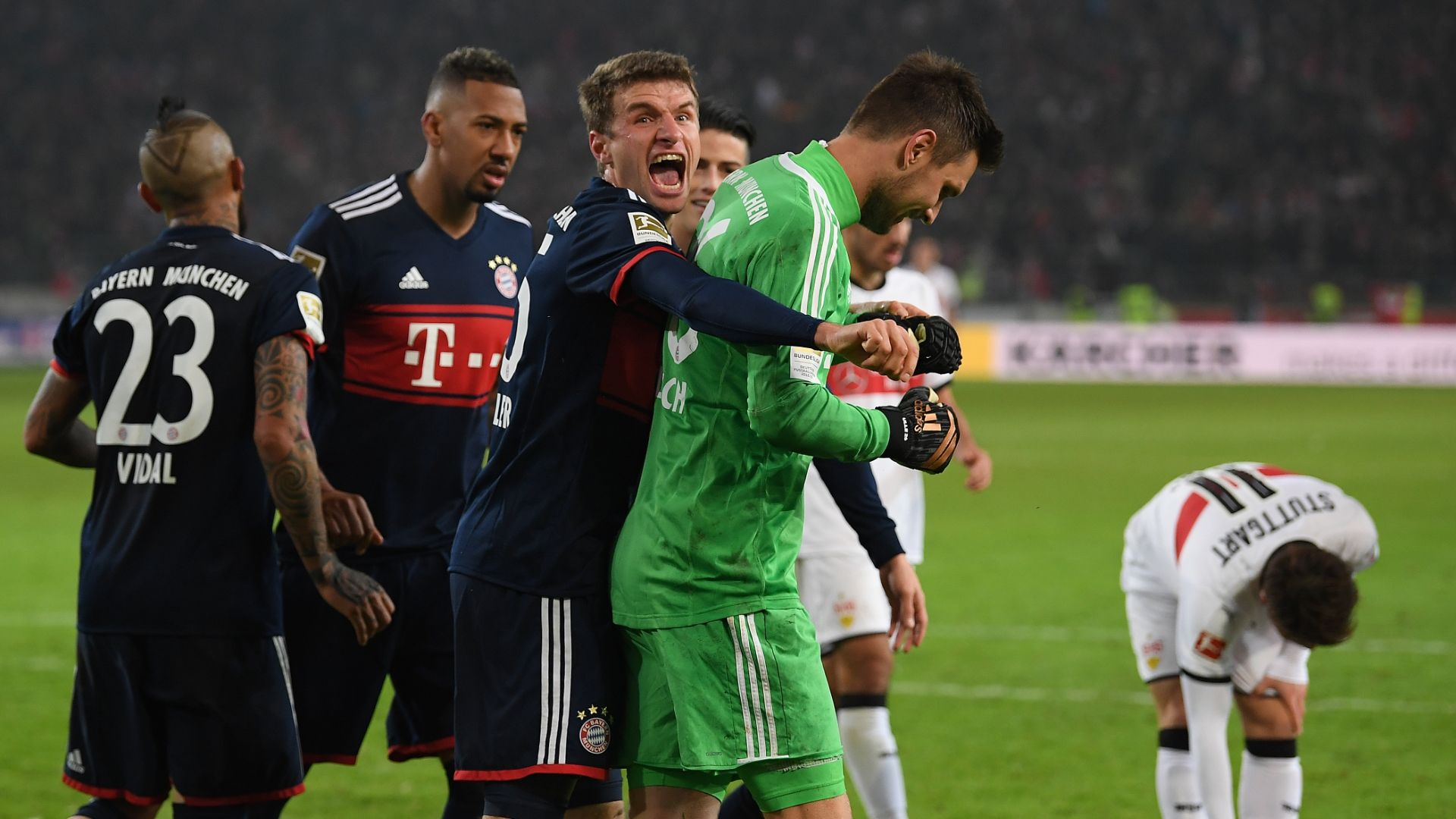 Sub Muller comes to Bayern's rescue vs. Stuttgart