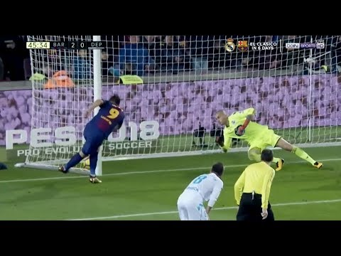 Luis Suarez Rabona attempt on goal vs Deportivo