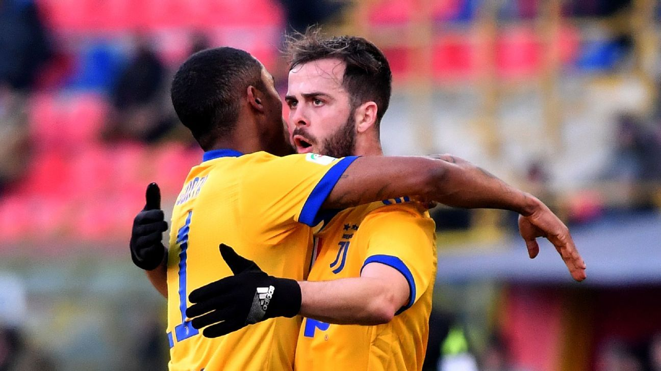 Pjanic 8/10 as Juventus rout Bologna, climb to second in Serie A