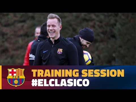 First training session of 'El Clásico' week