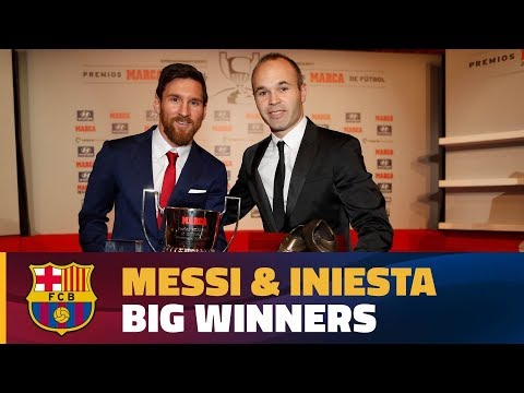 Lionel Messi & Andrés Iniesta, big winners at La Liga Gala