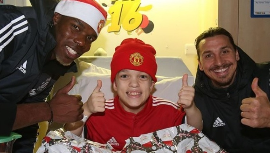 PHOTOS: Man Utd Stars Give Back Before Christmas by Visiting Local Children's Hospitals
