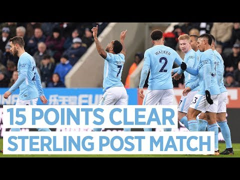 18 WINS IN A ROW | NEWCASTLE 0-1 Man City | Raheem Sterling Post match Interview