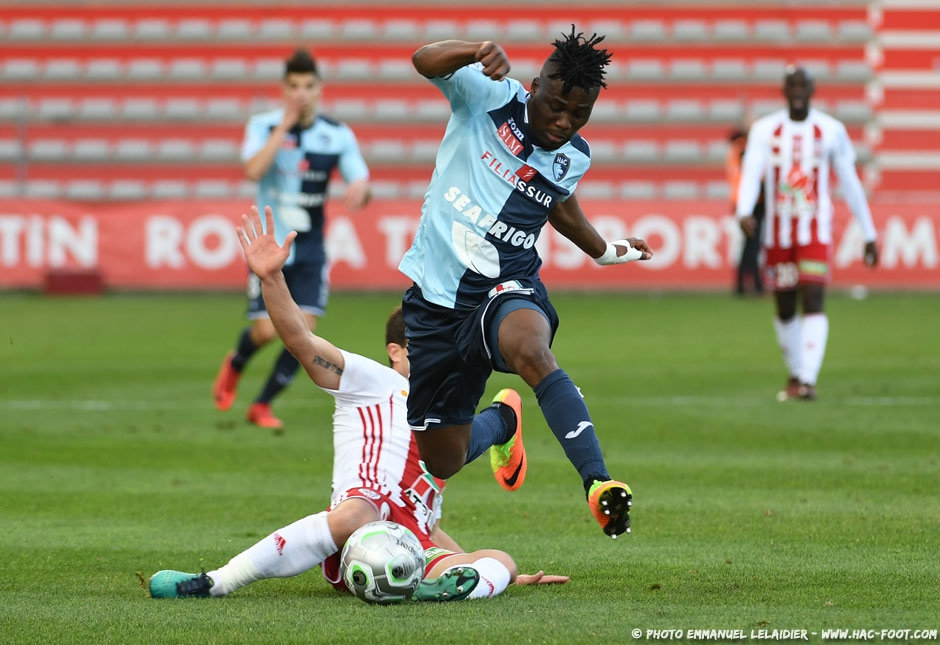 Le Havre striker Ebenezer Assifuah returns to action after NINE weeks out injured